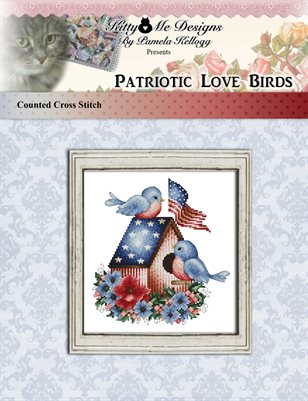 Patriotic Love Birds Cross Stitch Pattern