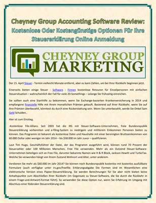 Cheyney Group Accounting Software Review