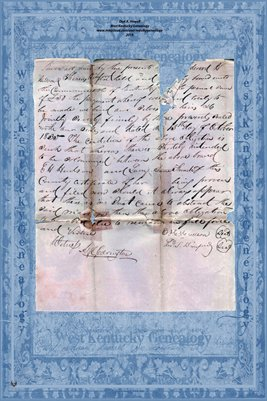1835 Marriage Record, Edward Hudson and Lucy Anne French, Hickman County, Kentucky2