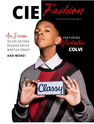 CIE Fashion Magazine Youth Edition Volume 9 Featuring Nicholas Colvi