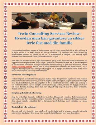Irwin Consulting Services Review: Hvordan man kan garantere en sikker ferie fest med din familie