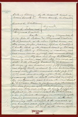 1877 WHITTMAN VS. SUKENS & KIMBALL, MASSAC COUNTY, ILLINOIS