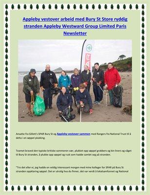 Appleby vestover arbeid med Bury St Store ryddig stranden