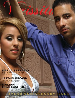 Vicissitude Magazine September 2012 - 4 Year Anniversary Issue Vol. 1 - Karla Serrano & Mr. Vicissitude Cover