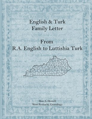 1873 Family Letter, R.A. English to sister Luttishia B. Turk