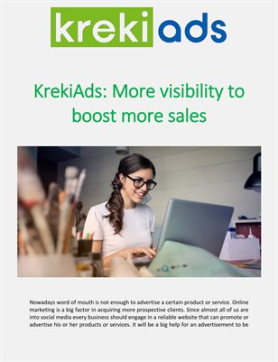 KrekiAds: More visibility to boost more sales