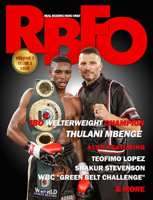Real Boxing Fans Only Magazine Feat. Thulani Mbenge