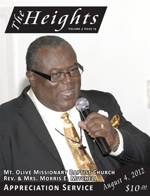 Volume 3 Issue 19 - Mt. Olive Missionary Baptist Church Pastor Anniversary