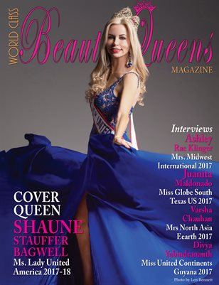 World Class Beauty Queens Magazine with Shaune Stauffer Bagwell