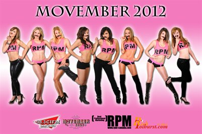 Movember featuring The Girls of RPM 2012