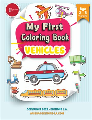 Children Coloring Book Vehicles - Vehicles Colouring Book: On Land, Sea and in the Air
