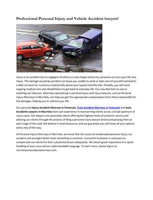 Auto Accident lawyers in Murrieta