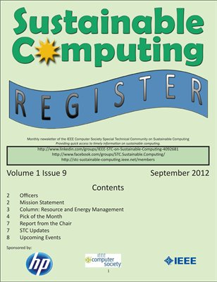Sustainable Computing Register - September 2012