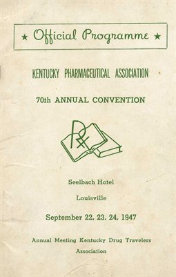 70th Official Programme, Kentucky Pharmaceutical Association