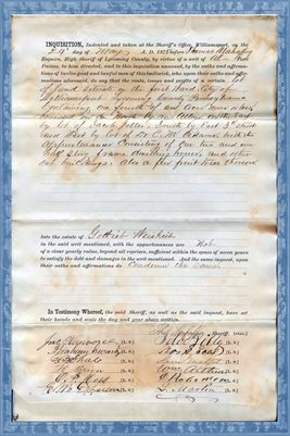 1875 INQUISITION, ESTATE OF GOTLIEB WEISHEIH, LYCOMING COUNTY, PA.