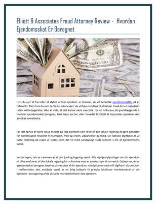 Elliott & Associates Fraud Attorney Review -  Hvordan Ejendomsskat Er Beregnet