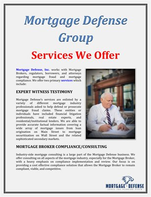 Mortgage Defense Group: Services We Offer