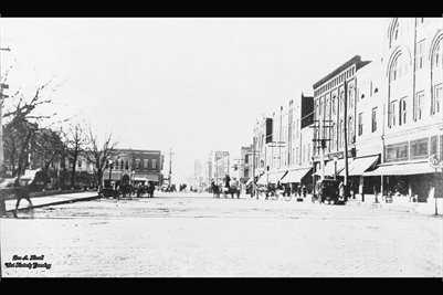 abt 1900 Down Town Mayfield, Kentucky
