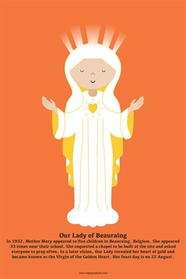 Happy Saints Our Lady of Beauraing Poster