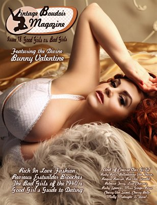 Vintage Boudoir Magazine Presents: Issue 18 - Good Girls vs Bad Girls. Good Girl Cover