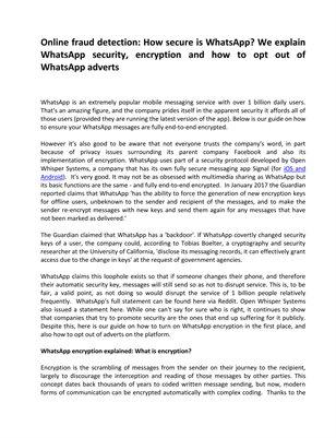 How secure is WhatsApp? We explain WhatsApp security