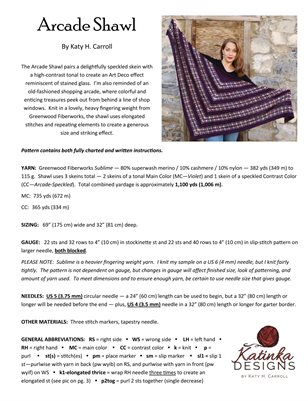 Arcade Shawl - Outer Pages