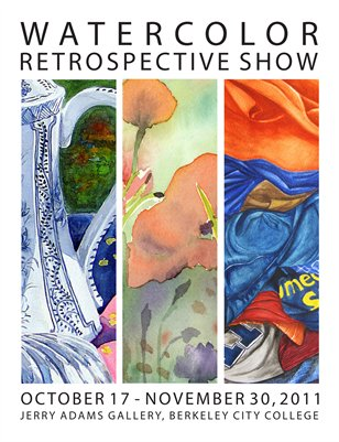 Watercolor Retrospective Show Book