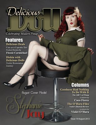 Delicious Dolls August 2013 Issue - Stephanie Jay Cover