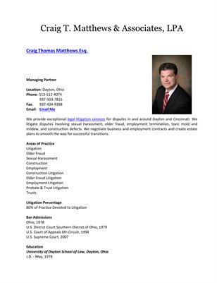 Craig T. Matthews & Associates, LPA