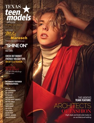 Texas Teen Models Official Magazine - December 2020 - Vol. 39