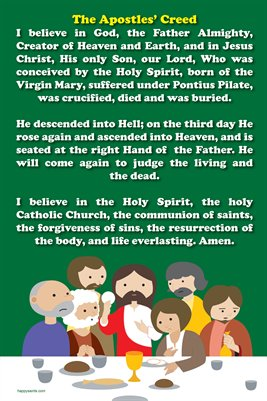 Happy Saints Apostles' Creed Poster