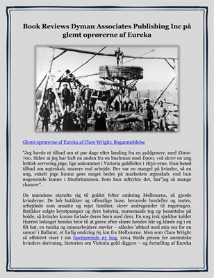 Book Reviews Dyman Associates Publishing Inc på glemt oprørerne af Eureka