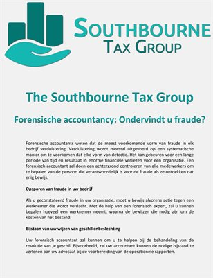 The Southbourne Tax Group - Forensische accountancy: Ondervindt u fraude?