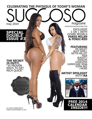 Succoso Magazine Double Issue #3 ft Cover Models Paris Milan & Fendi Red
