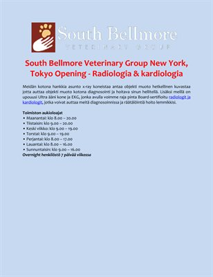 South Bellmore Veterinary Group New York, Tokyo Opening - Radiologia & kardiologia