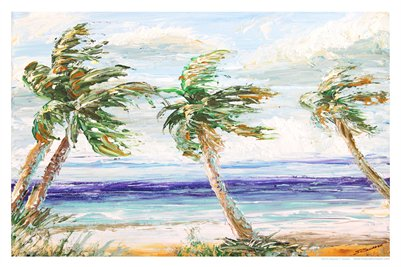 TROPICAL FLORIDA ART - PALM BREEZE 15