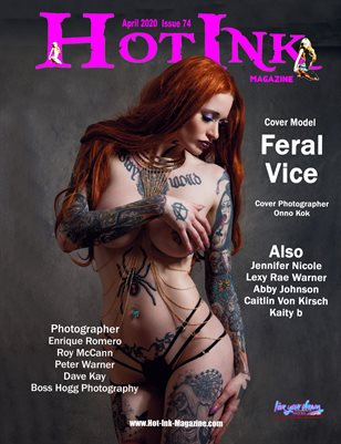 HOT INK MAGAZINE - Cover Model Feral Vice - April 2020