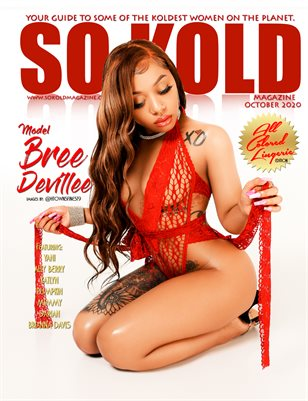 "SO KOLD MAGAZINE ""ALL COLORED LINGERIE"" Cover Model: MODEL BREE DEVILLEE"