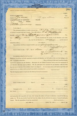 1924 State of Kentucky vs. Alta Turner, Graves County, Kentucky