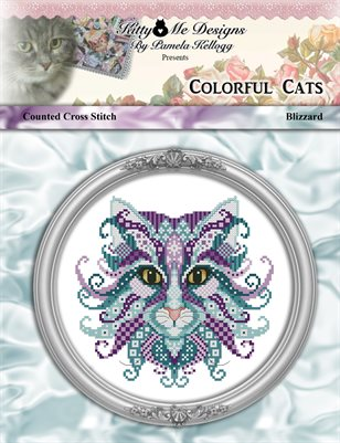 Colorful Cats Blizzard Cross Stitch Pattern