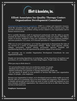 Elliott Associates Inc Quality Therapy Center: Organization Development Consultant