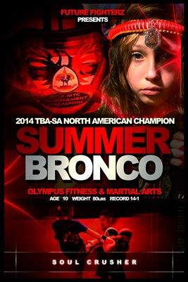 Summer Bronco Poster