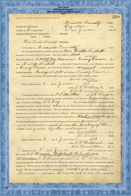 1923 State of Kentucky vs. Mrs. Hester Willett, Graves County, Kentucky