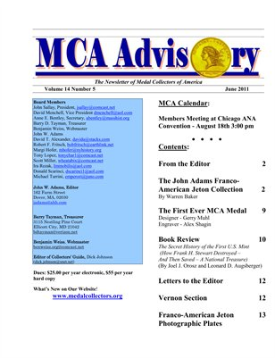MCA Advisory Volume 14 No. 5