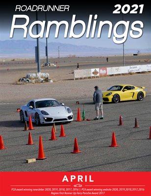 Roadrunner Ramblings April 2021