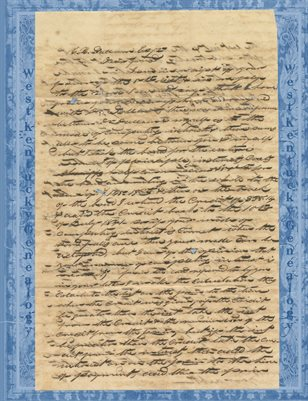 1847 LETTER TO C.H. DALLAM IN PRINCETON, KY FROM W.N. BRADLEY OF MAYFIELD, KY