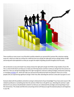 Secrets to business success by Meir Ezra
