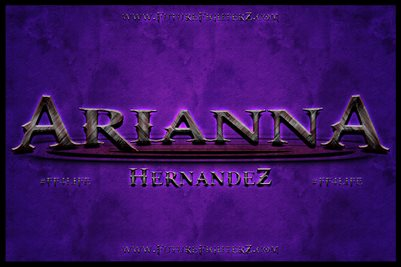 Arianna Hernandez Purple Name Design Poster
