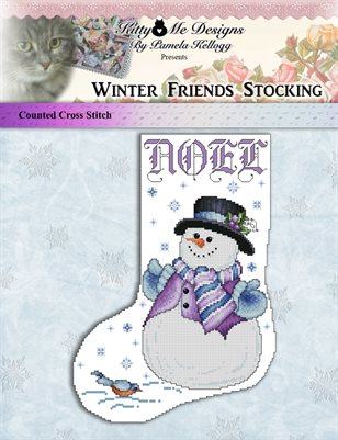 Winter Friends Stocking Cross Stitch Pattern