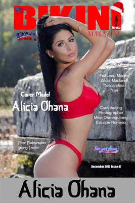BIKINI INC USA MAGAZINE COVER POSTER - Cover Model Alicia Ohana - December 2017